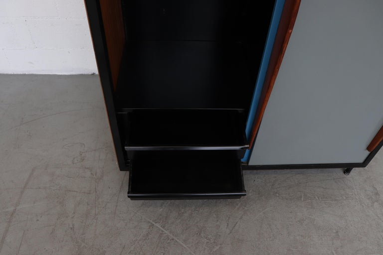 Willy Van Der Meeren Tall Metal Wardrobe for Tubax For Sale 1