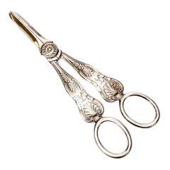 Wilson & Gill English Sterling Silver Grape Shears / Scissors