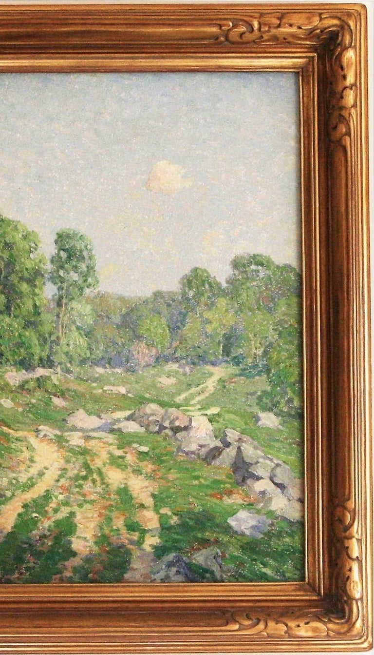 A Hazy Summer's Day.  - Brown Abstract Painting by Wilson Henry Irvine
