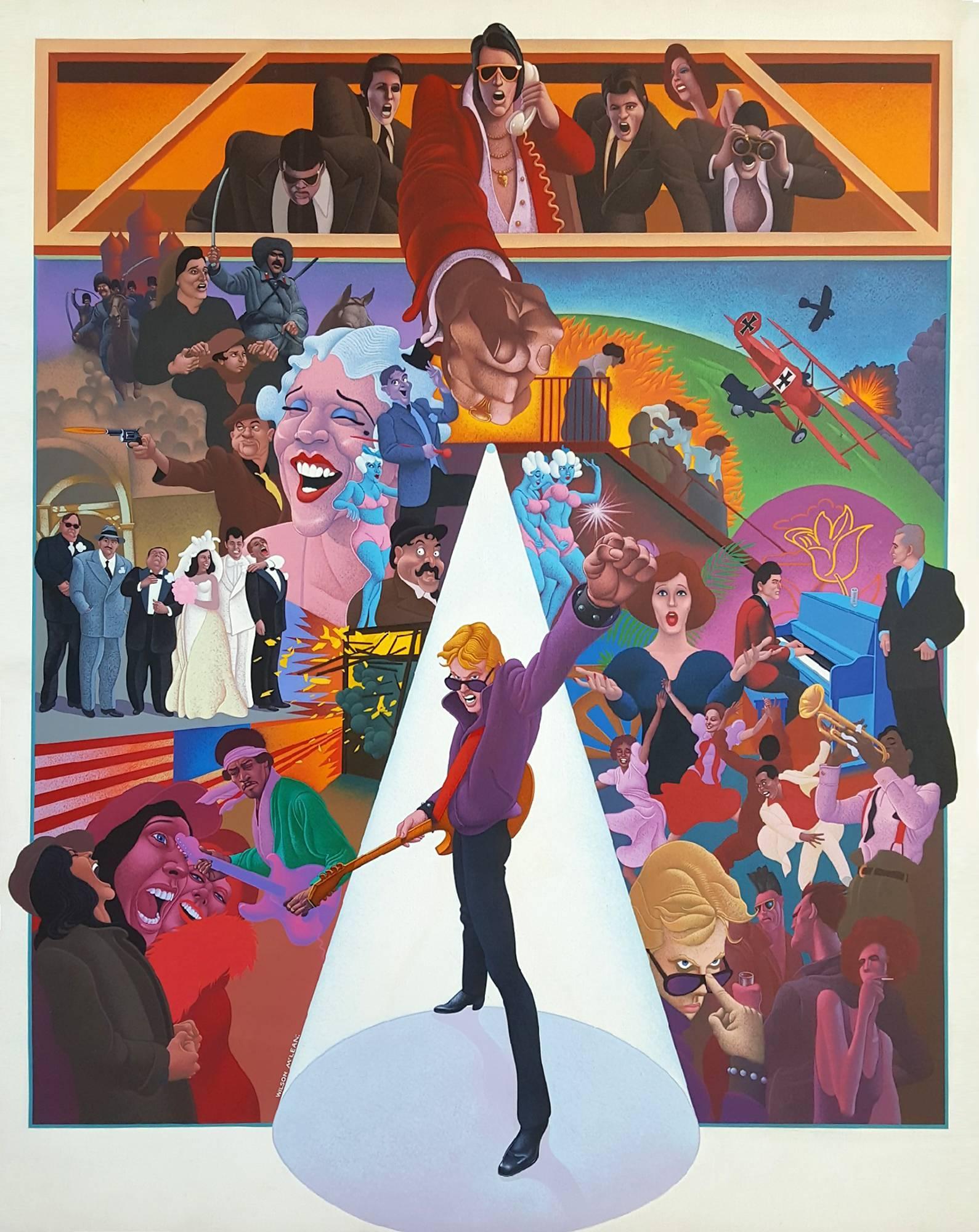 "Movie Poster Illustration for ""American Pop"""
