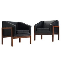 Wim Den Boon Pair of Unique Dutch Lounge Chairs