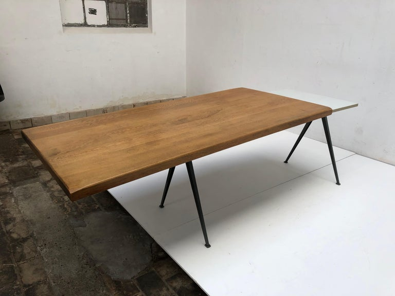 Wim Rietveld 1st Edition Oak Top 'Pyramid' Compass Table Ahrend the Cirkel 1959 For Sale 5