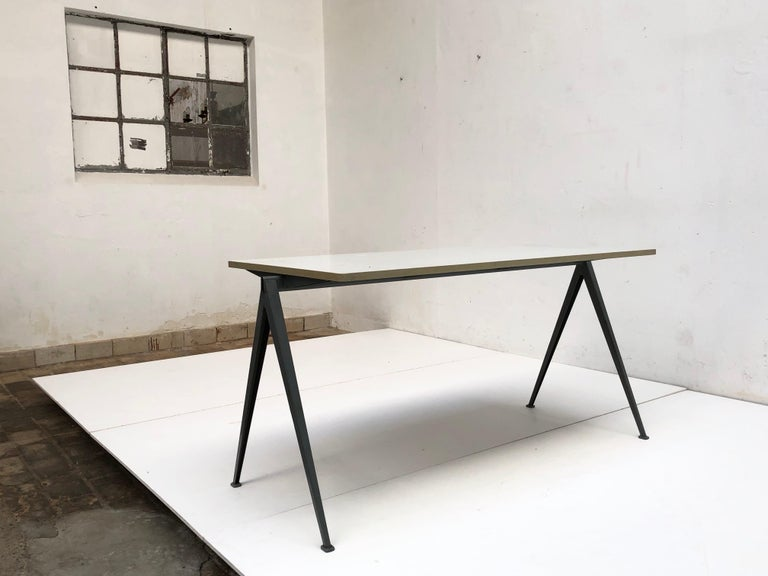Wim Rietveld 1st Edition Oak Top 'Pyramid' Compass Table Ahrend the Cirkel 1959 For Sale 9