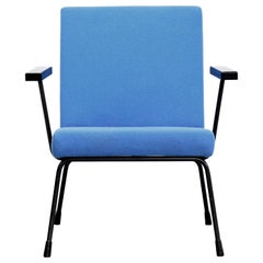 Wim Rietveld Dutch Industrial Modernist Design Armchair Model 1401 by Gispen