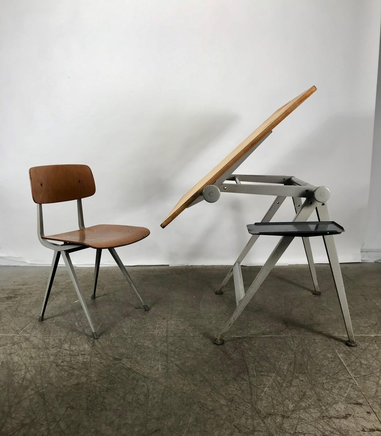 1964 Rare Friso Kramer Coffee Table For Ahrend De Cirkel: Wim Rietveld And Friso Kramer Architectural Drafting Table