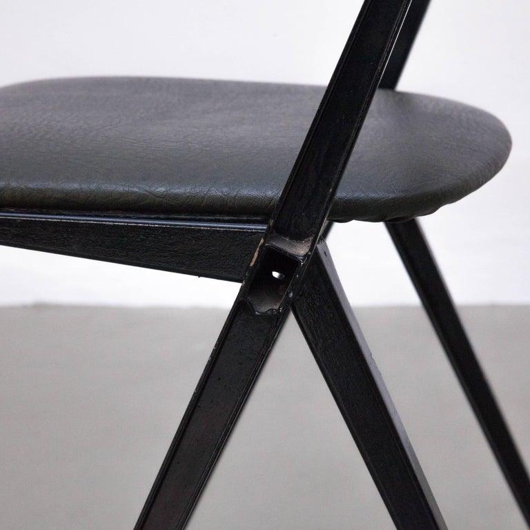 Wim Rietveld Midcentury, Black Grey Pyramid Chair Netherlands, circa 1960s For Sale 1