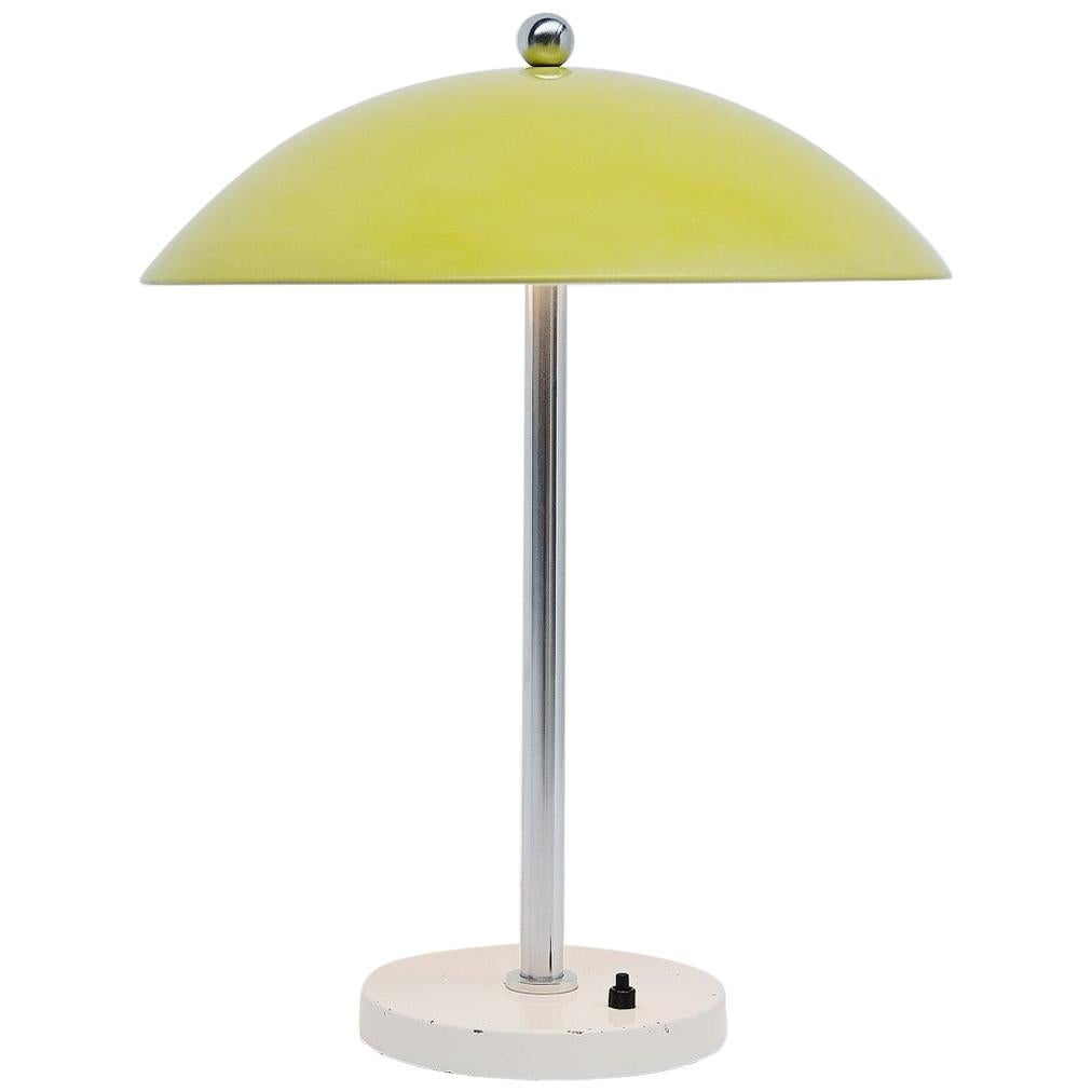 Wim Rietveld Mushroom Table Lamp Yellow Gispen, 1950