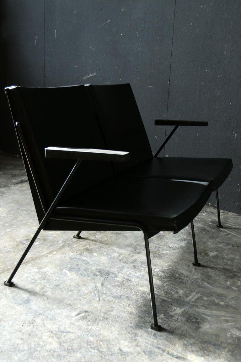 Steel Wim Rietveld Oase Ahrend 2-Seat Sofa Very Rare Midcentury Design For Sale