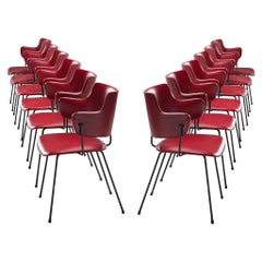 Wim Rietveld & W.H. Gispen '205' Chair in Red for Kembo