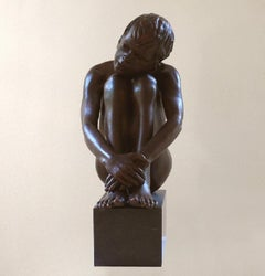 Alia Mihi Mens Est Bronze Sculpture Contemporary Nude Boy Marble Stone
