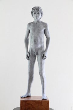 Tuemini Ergo Sum Bronze Sculpture Nude Boy Male Figure Marble Stone