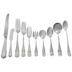 Winchester by Shreve Sterling Silver Flatware Set for 8 Service 89 Pcs Dinner