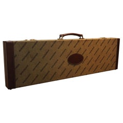 Winchester Shotgun Case with Red Inner Lining, Leather Trim and Brass Locks