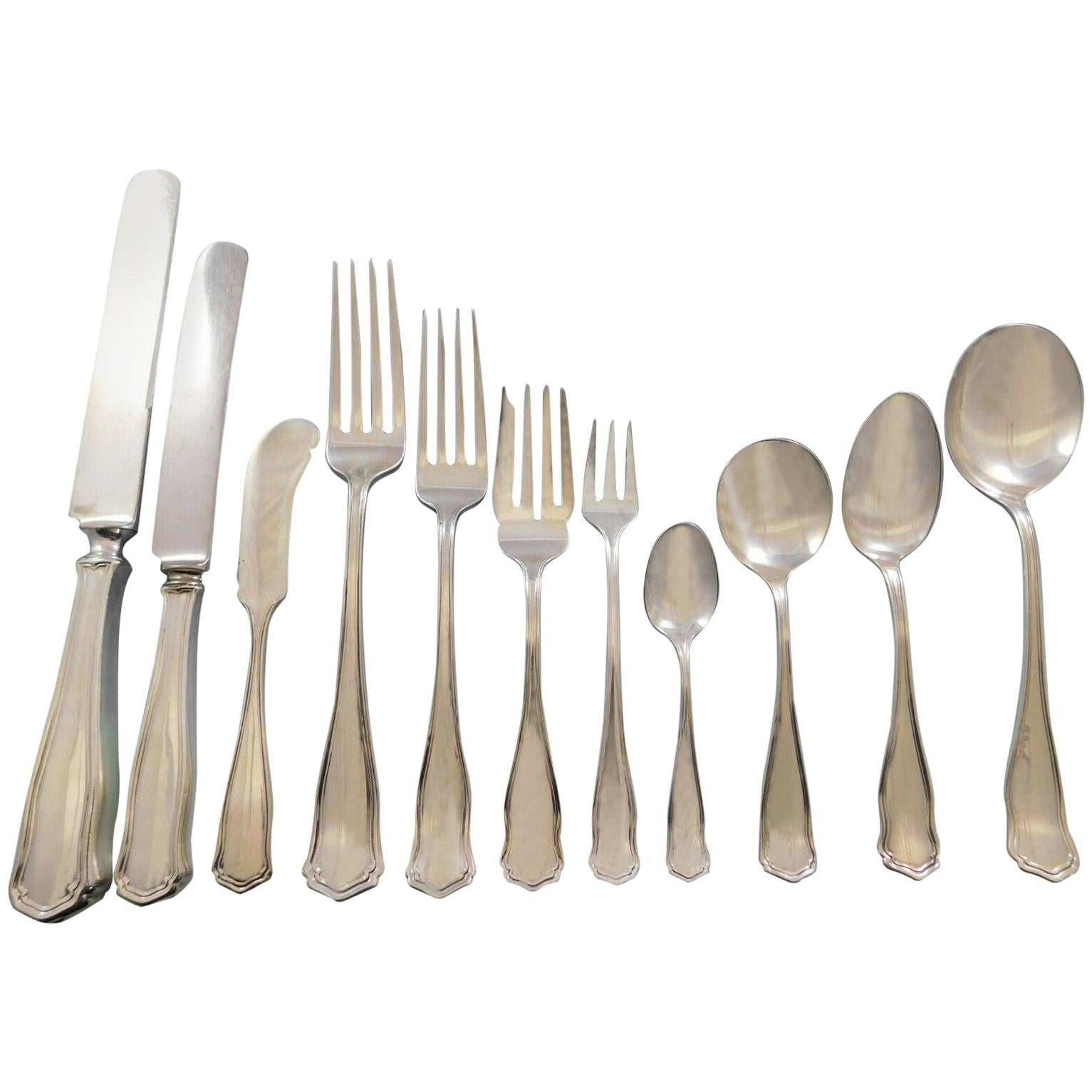 Winchester, Shreve Sterling Silver Flatware Set Service 149 Piece Dinner in Box