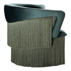 Wind Swivel Armchair with Silk Fringes 21st Century Green