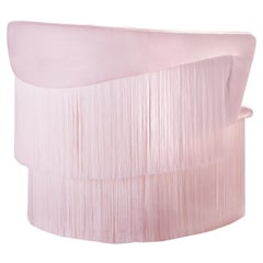Wind Swivel Armchair with Silk Fringes 21st Century Pink C