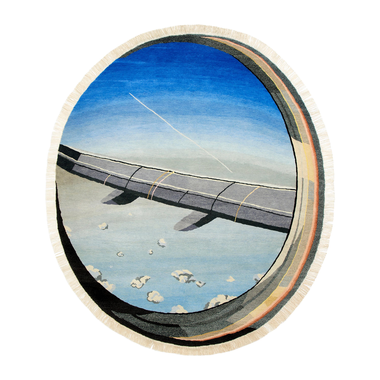 Window Plane Rug IRL Wool Silk Johanna Ulfsak Contemporary Design, Nepal 2019