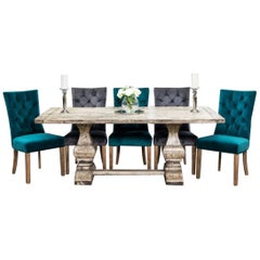 Windsor Bespoke Double Pedestal Table With Oiled Finish, 20th Century