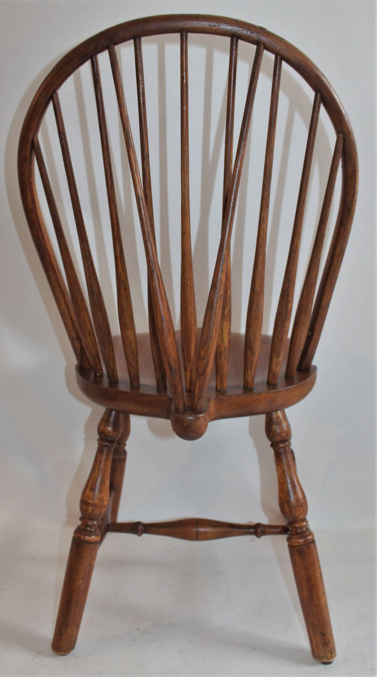 Country Windsor Chair, Bracback Form For Sale