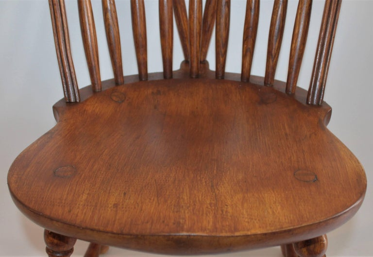 American Windsor Chair, Bracback Form For Sale