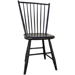 Windsor Chair Black and Gold Painted by William Wilt