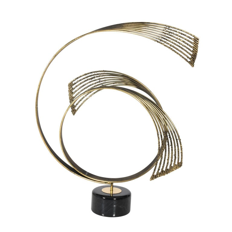 Windswept Brass Sculpture by Curtis Jere