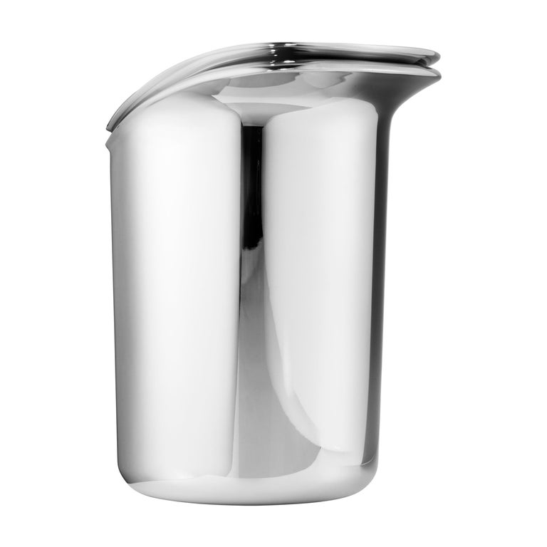 Wine & Bar Ice Bucket Stainless Steel Mirror Finish by Georg Jensen For Sale