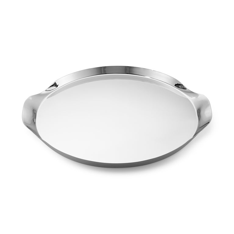 Modern Wine & Bar Tray Stainless Steel Mirror Finish by Georg Jensen For Sale
