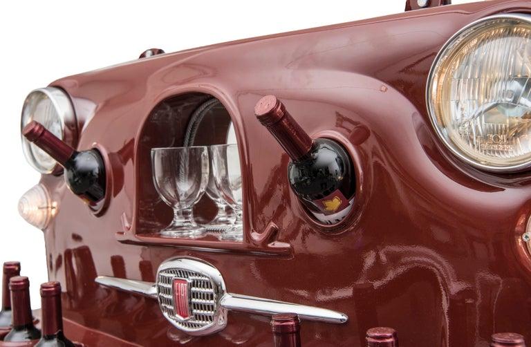 Italian Wine Holder Model Rinoteca 01, Original Handcrafted Wine Holder For Sale