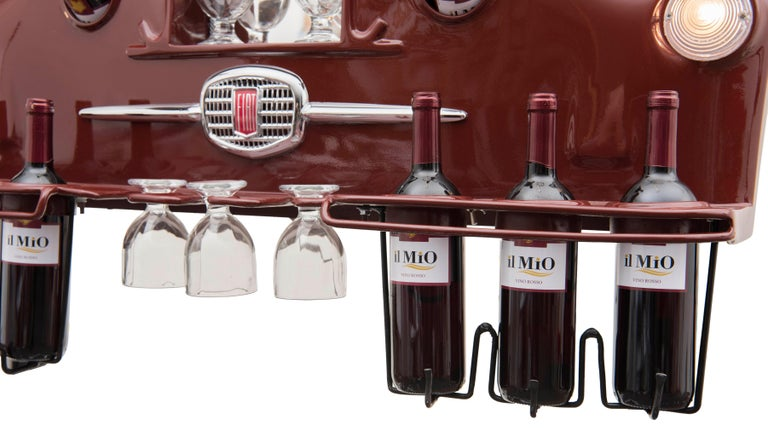 Wine Holder Model Rinoteca 01, Original Handcrafted Wine Holder In New Condition For Sale In Roma, IT