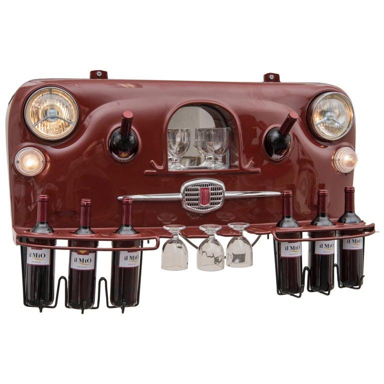 Wine Holder Model Rinoteca 01, Original Handcrafted Wine Holder For Sale