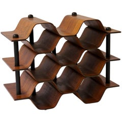 Wine Rack in Rosewood by Torsten Johansson, Sweden, 1960