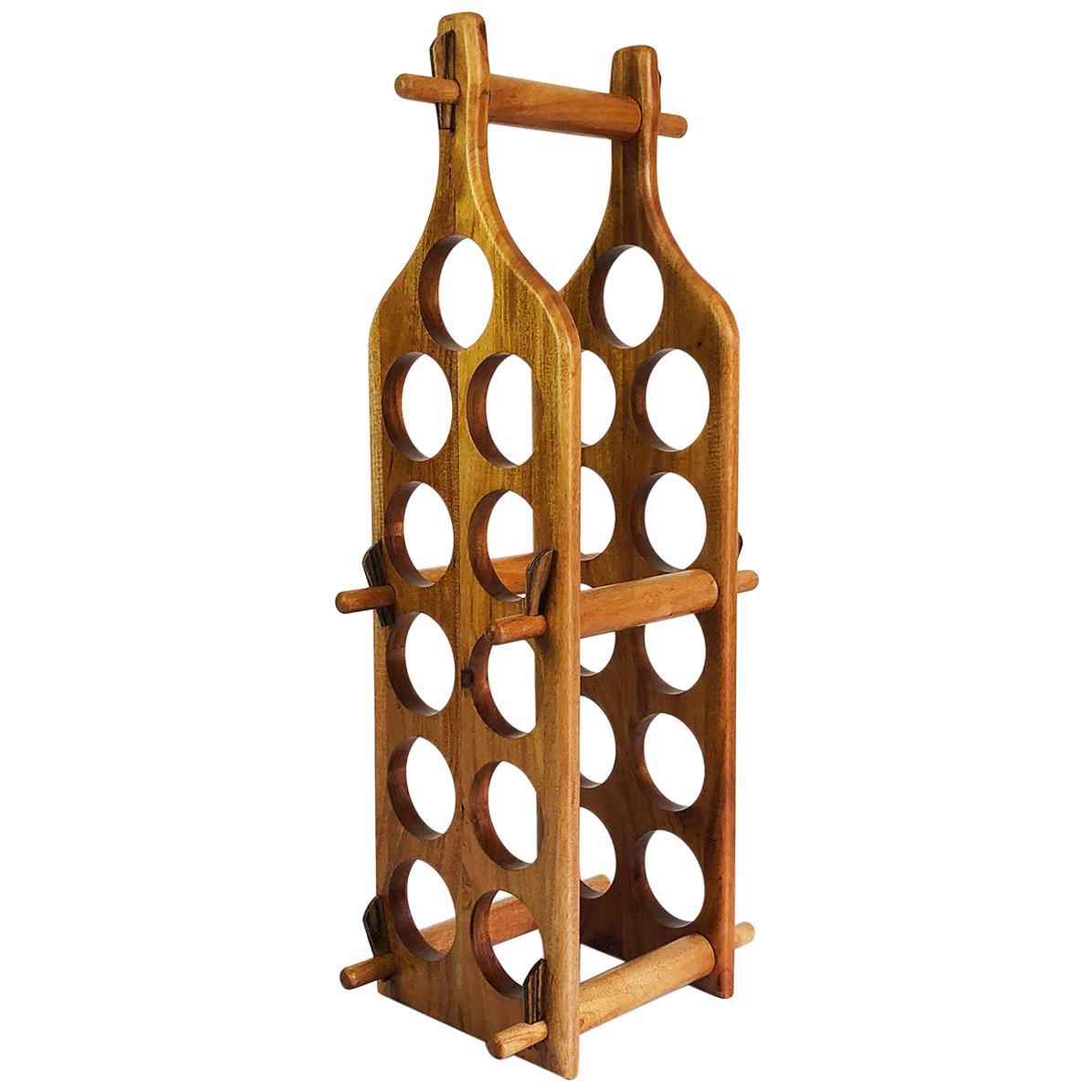 Wine Rack Made in Tropical Wood