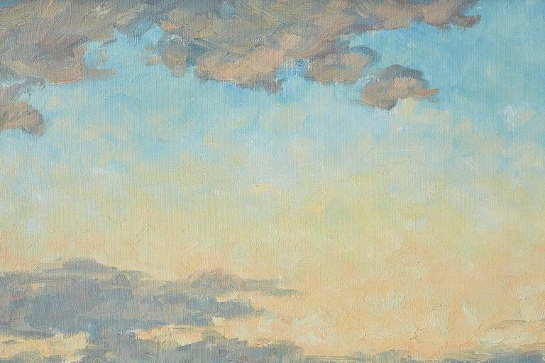 Sunrise Landscape Oil Painting For Sale 12
