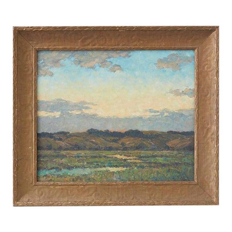 Winfield Scott Clime Landscape Painting - Sunrise Landscape Oil Painting