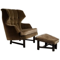 Wing-Back Lounge Chair Model 5761 Designed by Edward Wormley for Dunbar