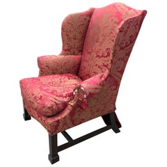 Wing Chair Chippendale Philadelphia Serpentine Front Marlboro Feet, circa 1770