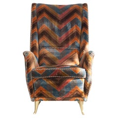 Wing Chair, Design and Manufacturer I. S. A. Bergamo, Italy, 1950s
