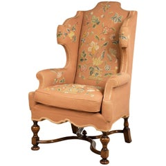 Wing Chair of William and Mary Design