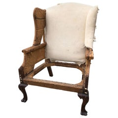 Wing Chair Queen Ann Philadelphia Trifid Feet Carved Shell Knees, circa 1770