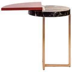 Wing End Table Red