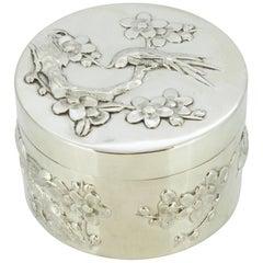 Wing Nam & Co. Antique Chinese Silver Circular Box/Tea Caddy, China, circa 1900