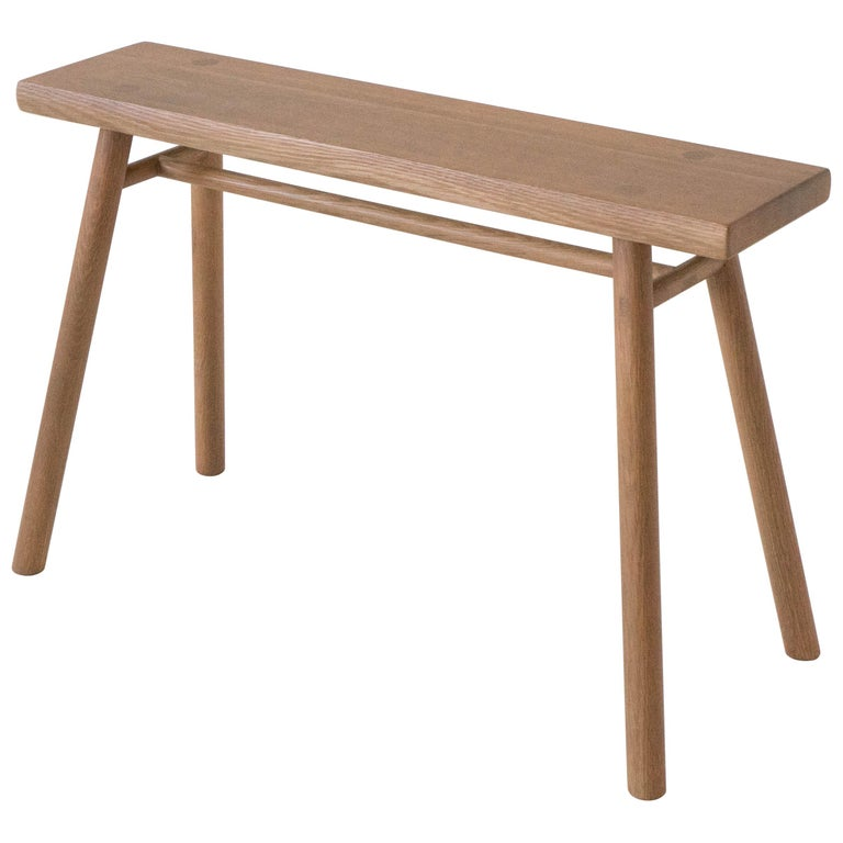 Wing Stand by Sun at Six, Sienna Minimalist Stool or Side Table in Wood For Sale