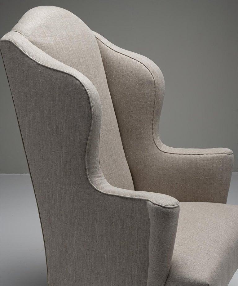 English Wingback Armchair, England, Circa 1840 For Sale