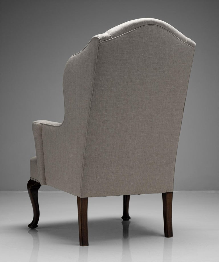 Wingback Armchair, England, Circa 1840 In Good Condition For Sale In Culver City, CA