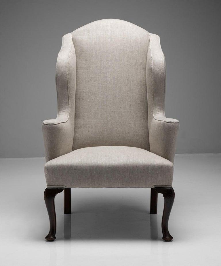 19th Century Wingback Armchair, England, Circa 1840 For Sale