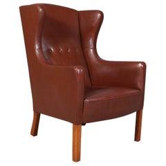 Wingback Chair by Børge Mogensen, Model L3, FDB, 1950s