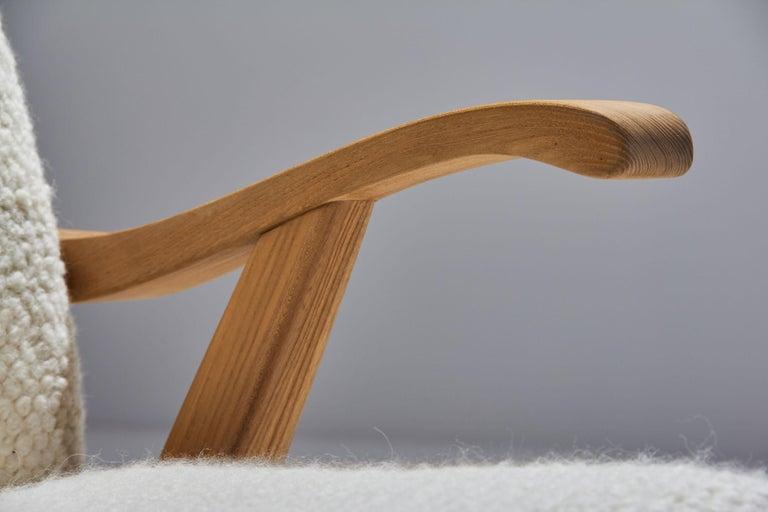 'Wingback' Chair by Danish Cabinetmaker Søren Willadsen, Denmark, 1960s For Sale 4