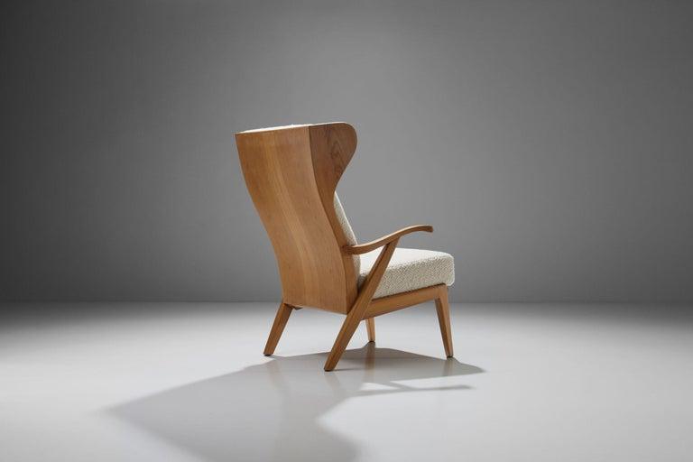 Scandinavian Modern 'Wingback' Chair by Danish Cabinetmaker Søren Willadsen, Denmark, 1960s For Sale