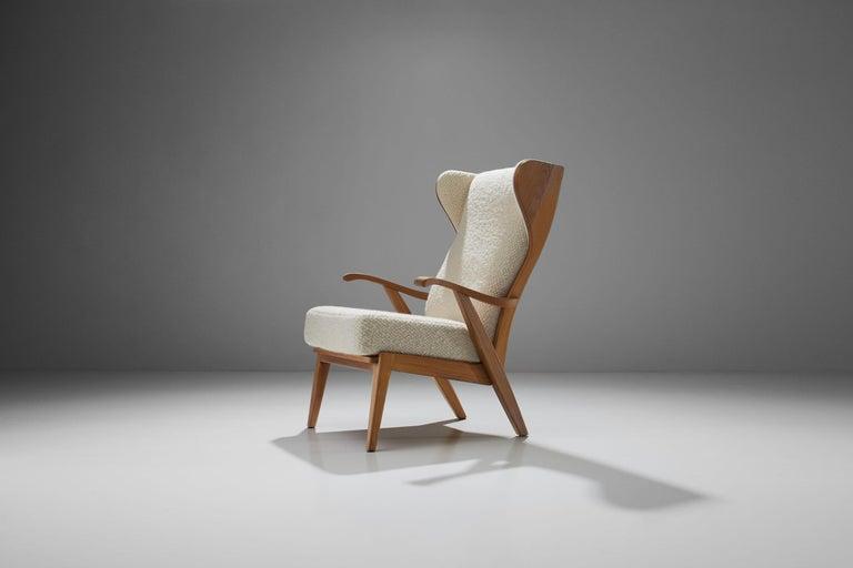 'Wingback' Chair by Danish Cabinetmaker Søren Willadsen, Denmark, 1960s In Good Condition For Sale In Utrecht, NL